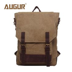AUGUR Brand New Fashion School Bags For Teenagers Leisure Canvas Crazy Horse Backpacks Girls Backpack Men HT100591