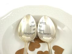 Vintage Wedding Gifts, Diy Wedding Gifts, Birthday Rewards, Birthday Gifts, Gifts For Kids, Great Gifts, Vintage Cutlery, Mom Day, Inexpensive Gift
