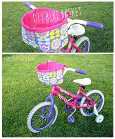 DIY bike basket tutorial from Sew Pretty Sew Free.