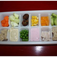 http://rubies.work/0840-ruby-pendant/ Ice cube tray toddler meal buffet