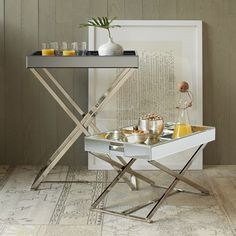 Low butler tray stand | West Elm