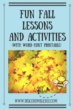 Check out these fun fall lessons and activities for our homeschool classroom this month. Learn and experiment with leaves, apples and pumpkins. Be sure to pin and visit to download the free sight word and spooky word flashcards for a word hunt!  http://www.discobumblebee.com #homeschool #fall #lessonplan #lessons #activity #art #science #math #reading #writing #classroom