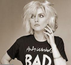 Debbie Harry in Andy Warhol's Bad T-Shirt, Old Street Studio, London, 1979.