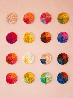 Crochet painting