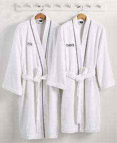 His 'n Hers robes | Gift Guide: Honeymooners | SouthBound Bride | http://www.southboundbride.com/gift-guide-honeymooners/