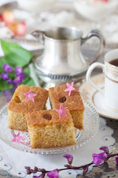 Cardamom Semolina Cake with Rosewater Syrup at Cooking Melangery @Cooking Melangery
