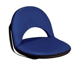 Portable Recliner Seats Adjustable Foldable Stadium Chair Blue. When you require a recreational leaning back seat that is lightweight and convenient, this Seat is for you. This diversion chair is ideal for picnics, the recreation center, ballgames and much more. High-density foam cushioning. Steel frame. Polyester cover. Adjustable shoulder trap. Six adjustable positions.Dimensions: 29 x 22 x 2 inches