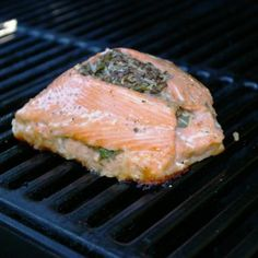 Grilled Herb-Stuffed Salmon Recipe: Grilled Stuffed Salmon Recipe