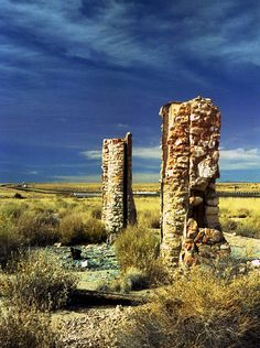 Ruins of the Two Guns attraction along the old route 66 east of Flagstaff, AZ