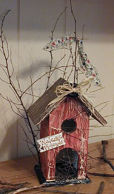 Image detail for -Rustic Birdhouse - Free Instructions