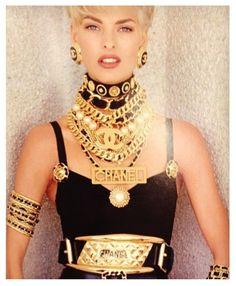 Iconic Chanel/Late 1980's /Model, Linda Evangelista