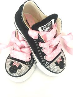 Minnie Mouse Toddler Converse Bling Shoes by TinleighsTrinkets