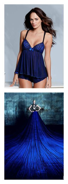 Blue camisole and short set from Adore Me Lingerie