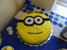 Despicable Me Minion Cake - My daughter's 2nd birthday party theme was Despicable Me.  The cake was delicious!!!