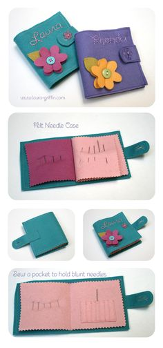 felt-needle-book-all We made these as gifts when I was a Brownie, mum still has… Small Sewing Projects, Sewing Hacks, Sewing Crafts, Sewing Kits, Needle Case, Needle Book, Sewing Case, Operation Christmas Child, Felt Patterns