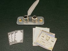 1/12th Scale...Dolls House...Handmade...Silver Writing Set.