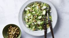 Brussels sprouts & hazelnuts salad