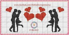 This Pin was discovered by Emi Cross Stitch Heart, Cross Stitch Alphabet, Cross Stitch Embroidery, Wedding Cross Stitch Patterns, Cross Stitch Designs, Graph Paper Art, Palestinian Embroidery, Cross Stitch Pictures, Pixel Art