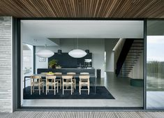 Private residence at Dragor in Copenhagen, Denmark by Studio David Thulstrup, Photograph by Mark Seelen. The Way Home, Home And Family, Sofa Next, Black Kitchen Island, Farnsworth House, New York Architecture, Interior Styling, Interior Design, George Nelson