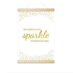 she leaves a little sparkle gold art print