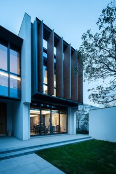 Jinghope Villas in Suzhou, China - designed by Singapore architecture firm, SCDA, photographed by Seth Powers. Singapore Architecture, Chinese Architecture, Facade Architecture, Beautiful Architecture, Residential Architecture, Villa Design, Facade Design, Exterior Design, Modern Tropical House