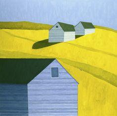 Scott Redden, Blue Barn, 2008, oil on linen