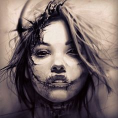 Incredible drawings works by designer tattoo David Garcia Female Face Drawing, Woman Drawing, David Garcia Tattoo, Tattoo Sketches, Tattoo Drawings, Face Tattoos For Women, Totenkopf Tattoos, Tattoos Gallery, Get A Tattoo