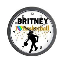 BASKETBALL STAR Wall Clock Every Basketball Player will be inspired by our fantastic Basketball player clocks.  http://www.cafepress.com/sportsstar/13293761 #Girlsbasketball #Lovebasketball #Basketballgift #Basketballchick #Hoopdreams #Personalizedbasketball #Basketballclock