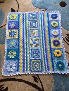 Beautiful crochet blanket by AboutCrochet on Etsy