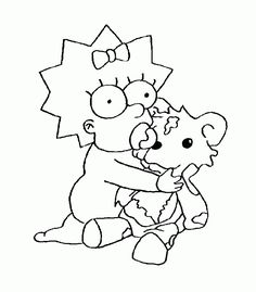 Simpsons Embroidery Pinterest Cartoon Adult coloring and