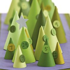DIY Christmas Tree Cone Advent Calendar #holidayentertaining