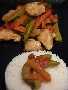 Wok de poulet aux légumes Kung Pao Chicken, Mad, Food And Drink, Low Carb, Nutrition, Healthy Recipes, Diet, Cooking, Ethnic Recipes