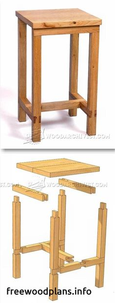 Bench Stool Plans - Furniture Plans and Projects - Woodwork, Woodworking, Woodworking Plans, Woodworking Projects Easy Wood Projects, Furniture Projects, Wood Furniture, Project Ideas, Furniture Design, Woodworking Furniture Plans, Woodworking Projects Diy, Teds Woodworking, Japanese Woodworking