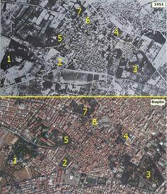 1-Forbes Köşkü, 2-Eski Buca Stadı, 3-Hasanağa Bahçesi, 4-Protestan Kilisesi, 5-Rees Köşkü, 6-Buca Heykel, 7-De Jongh Köşkü. Istanbul, City Photo
