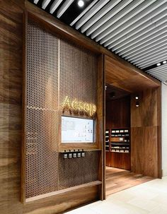 Australian skin-care brand Aesop has opened a warmly lit, wood-clad shop in its home city of Melbourne