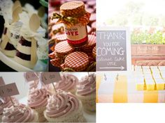 I like the cupcake toppers and maybe the jars with spoons...banana pudding in individual servings?