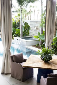 Outdoor Living by the pool