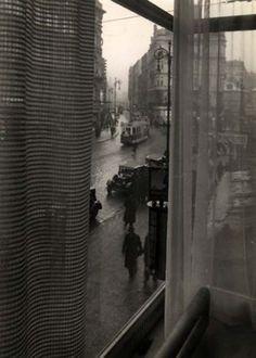 Josef Sudek, Street in Prague, from window of DP offices. 1930.