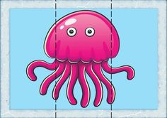 How to Draw Pink Octopus, Sea Animals Toddler Learning Activities, Infant Activities, Kids Learning, Kindergarten Teachers, Preschool Classroom, Puzzles For Kids, Games For Kids, Puzzle Crafts, Zoo Crafts
