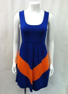 Blue and Orange Chveron Dixie Delight Dress #gators #gameday
