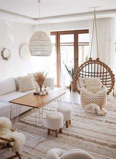 Living Room Decor Cozy, Boho Living Room, Living Room Modern, Living Room Interior, Home And Living, Living Room Designs, Living Room Decorating Ideas, Boho Room, Small Living
