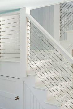 Custom built Cable Stair Railing.