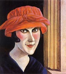 Woman in red hat, Otto Dix