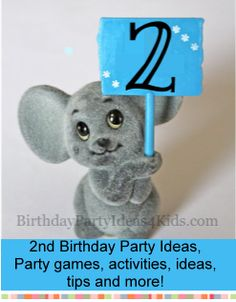 2nd Birthday Party Ideas - Fun and easy ideas, tips and planning advice for a 2nd birthday.  Party games, activities, timeline, party food and more!