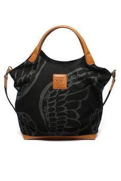 Make Love Not Trash - Safari Shopper Bag In Black