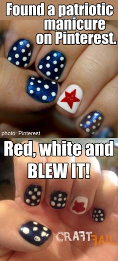 patriotic nail fail collage Patriotic Nails, 4th Of July Nails, Star Spangled, Jamberry Nails, Manicure And Pedicure, Beauty Hacks, Beauty Tips, Some Fun, You Nailed It