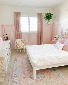 Pink Bedroom For Girls, Big Girl Bedrooms, Pink Bedrooms, Pink Room, Little Girl Rooms, Kids Bedroom Ideas For Girls Toddler, Paint For Girls Room, Toddler Bedroom Ideas, Pink Bedroom Walls
