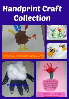 Handprint Craft Collection #crafts #kids #handprints #preschool