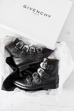 These boots are made for walking 👊🏼 Black Leather Boots, Calf Leather, Buckle Boots, Urban Fashion, Wardrobe Staples, Givenchy, Calves, Personal Style, Walking