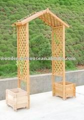 PVC and lattice garden arbor For those who dont have technical